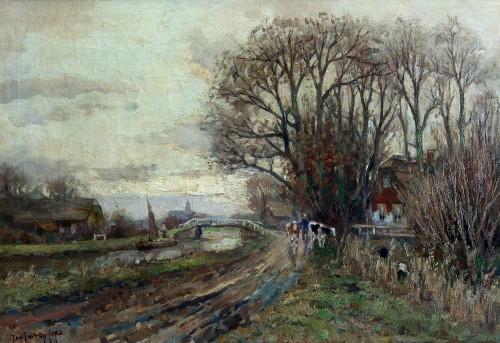 Gezicht op Schipluiden, 1923, olieverf, Jan van der Stap