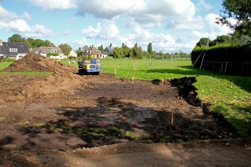 Afgegraven dijkje langs Zouteveenseweg, Schipluiden